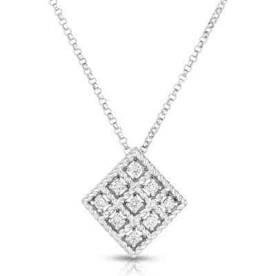 Roberto Coin Byzantine Barocco Diamond Pendant Necklace