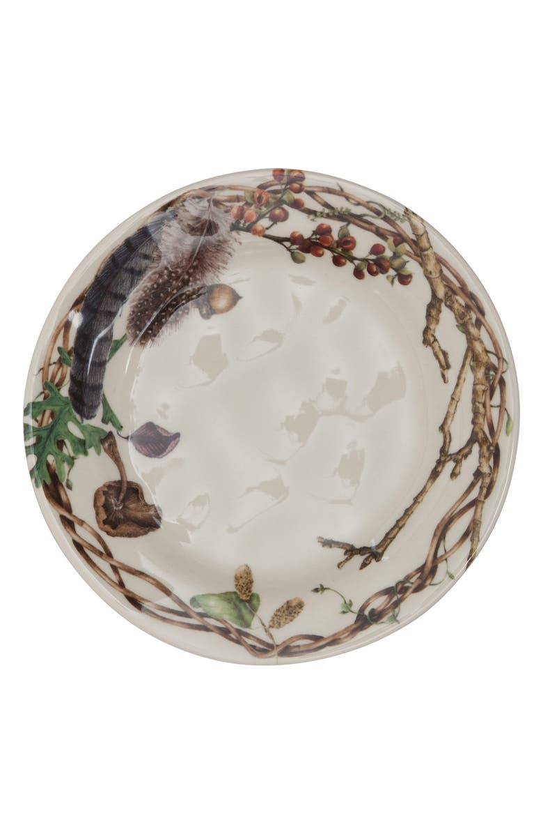 JULISKA Set of 4 Forest Walk Ceramic Party Plates, Main, color, ALMOND