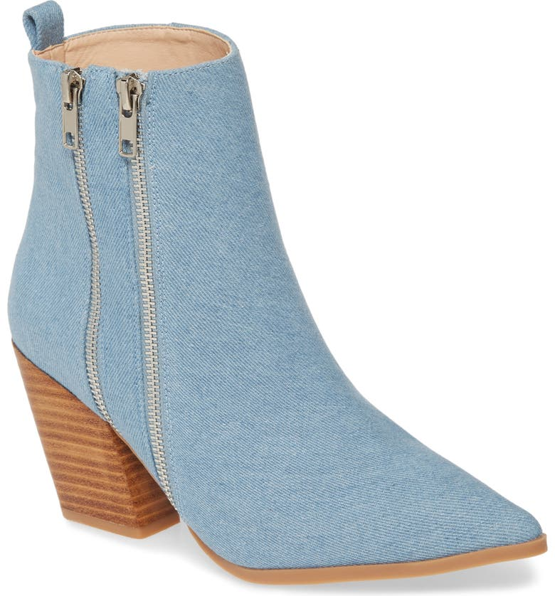 REBELS Kailee Bootie, Main, color, DENIM FABRIC