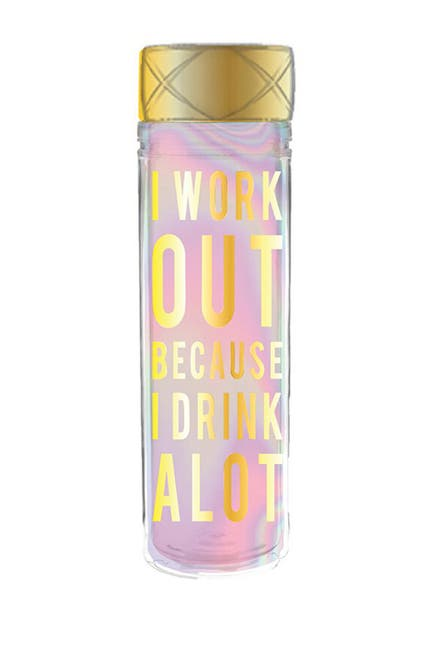 Image of SLANT COLLECTIONS I Work Out Reusable Water Bottle