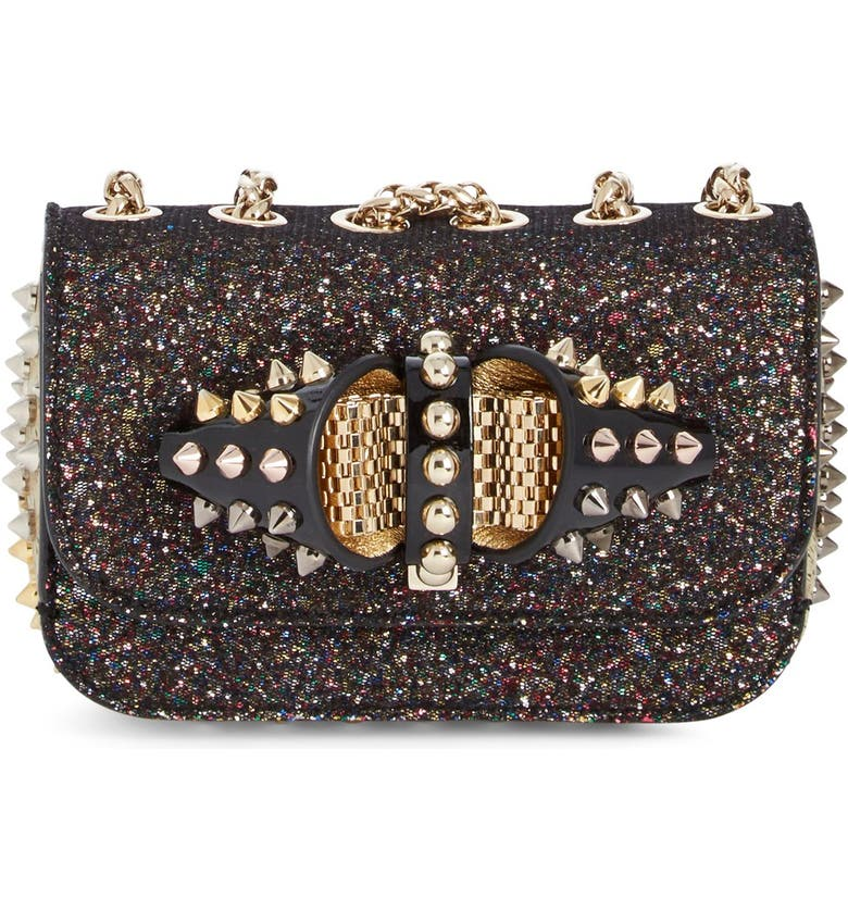 143210e1095 Christian Louboutin 'Sweet Charity' Glitter Spike Shoulder Bag ...