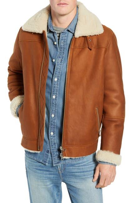 Image of FRAME Genuine Shearling Flight Jacket