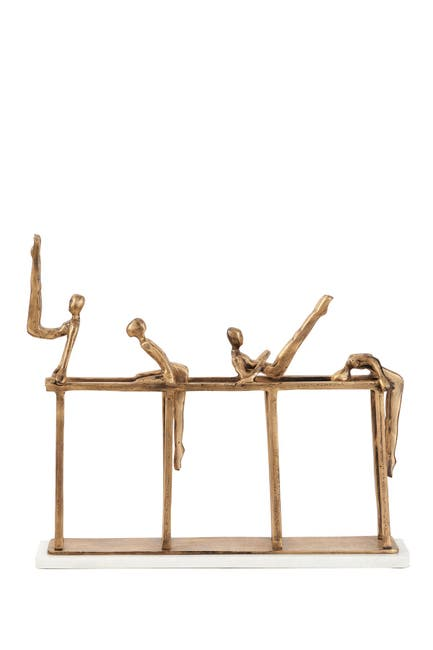 Image of Willow Row Gold Aluminum Modern Gymnastic Sculpture