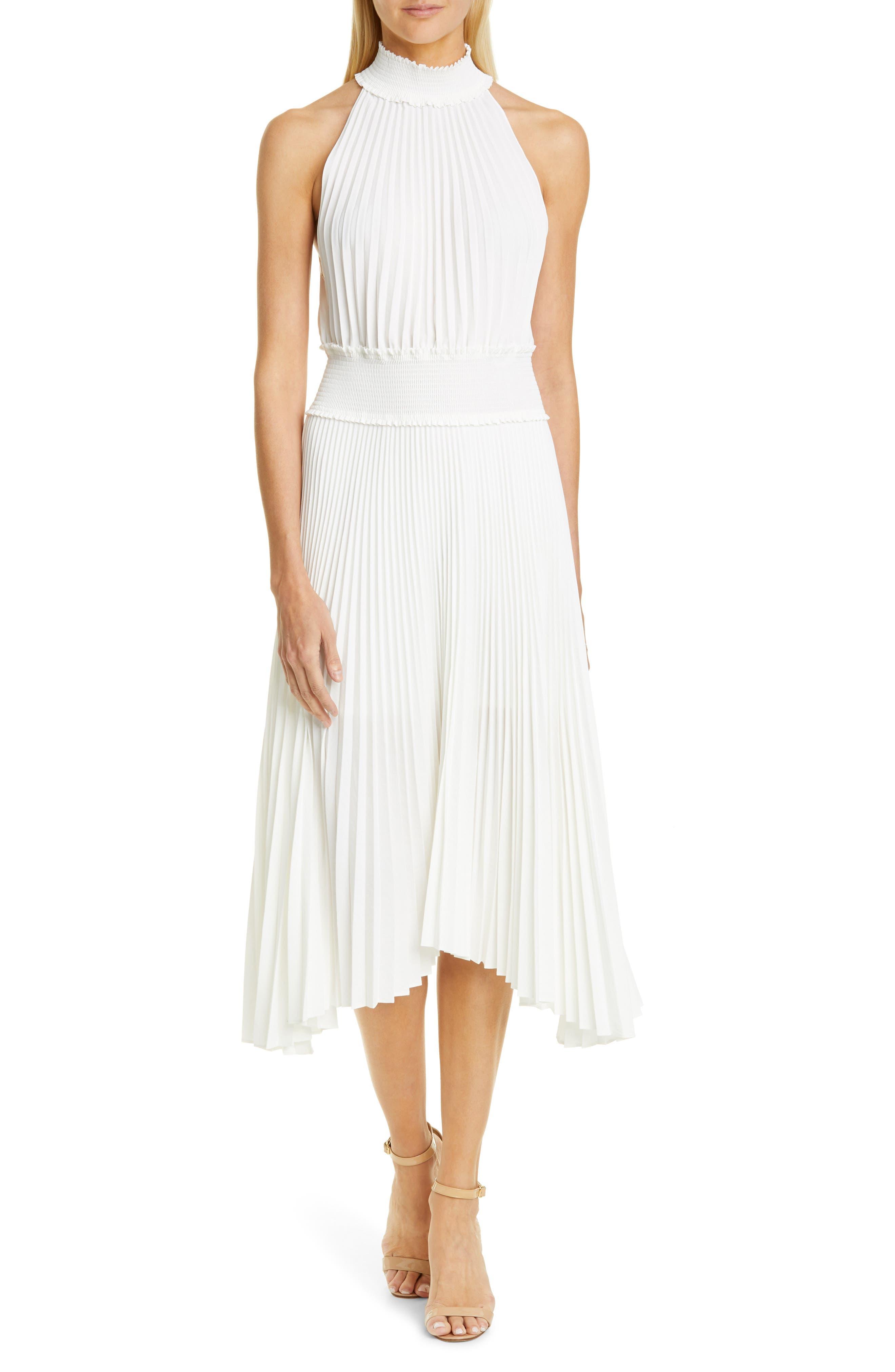 A.l.c. Renzo B Mock Neck Midi Dress, White