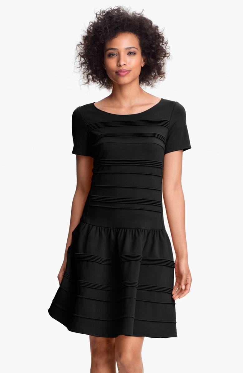 ELIZA J Seamed Drop Waist Dress, Main, color, 001