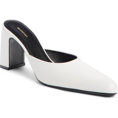Balenciaga Pointy Toe Mule, White