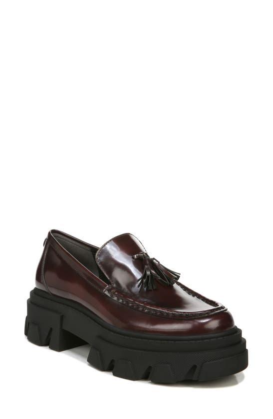 Sam Edelman Women's Dandrea Slip On Tassel Loafer Flats In Burgundy