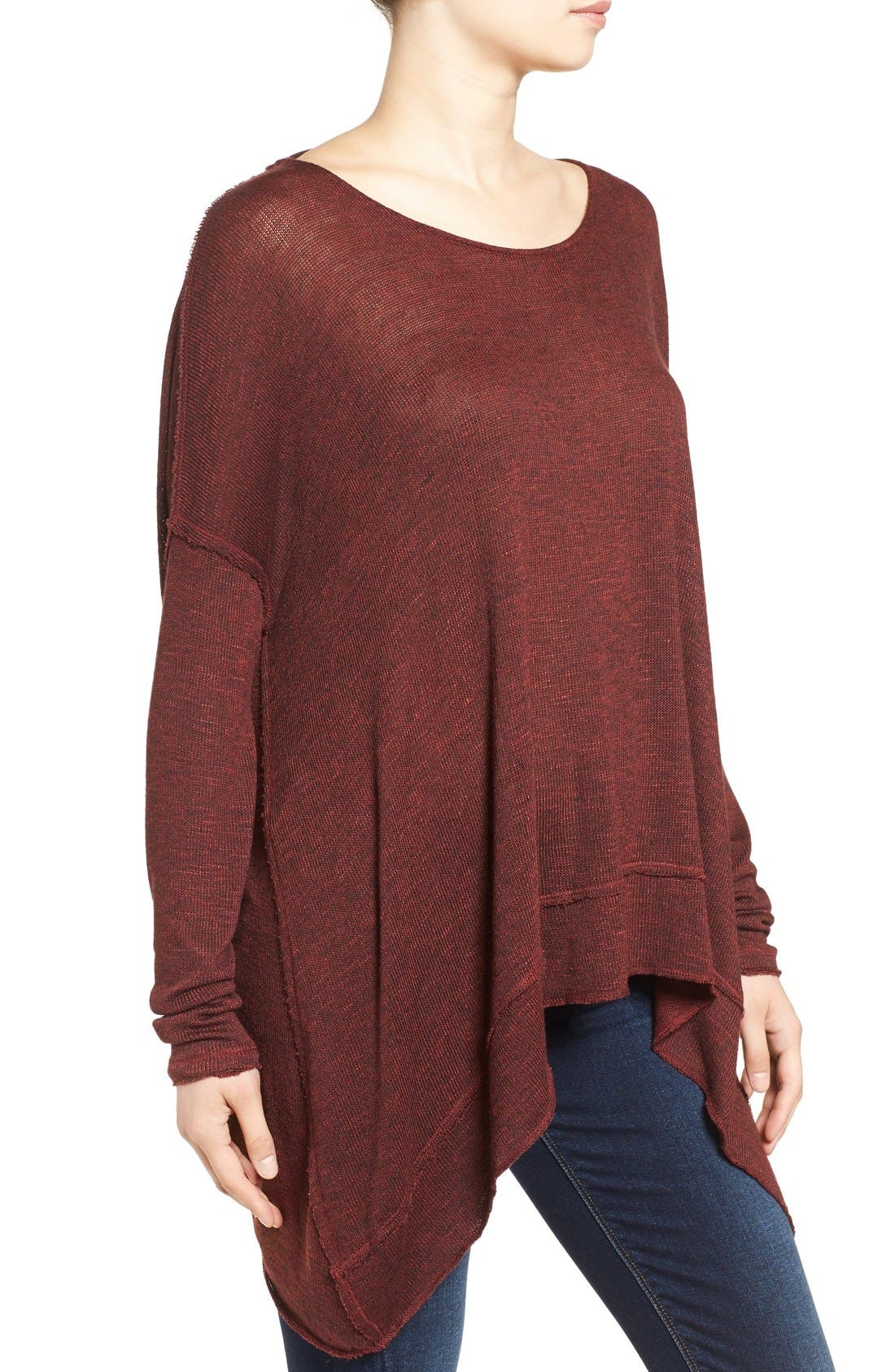 ,                             'Shadow' Oversize Hacci Open Back Top,                             Alternate thumbnail 28, color,                             930