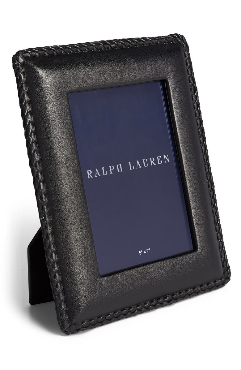RALPH LAUREN Faye Picture Frame, Main, color, BLACK