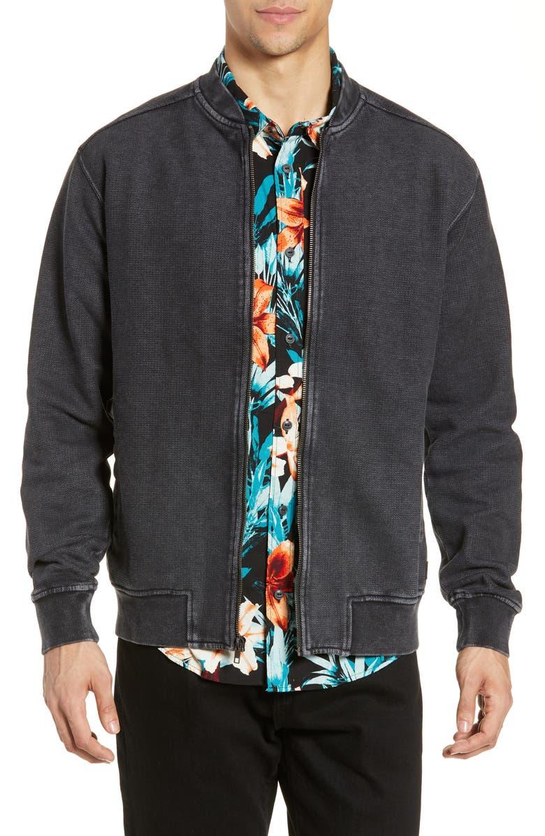 RVCA Ellsworth Knit Bomber Jacket, Main, color, 020