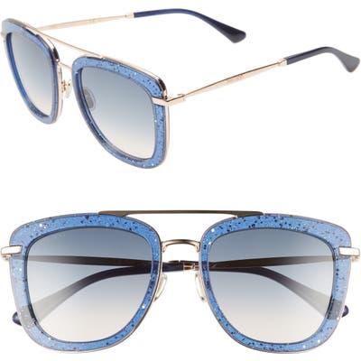 Jimmy Choo Glossy 5m Square Sunglasses - Blue