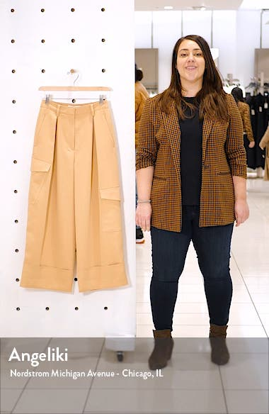 Pleated Crop Wide Leg Cargo Pants, sales video thumbnail