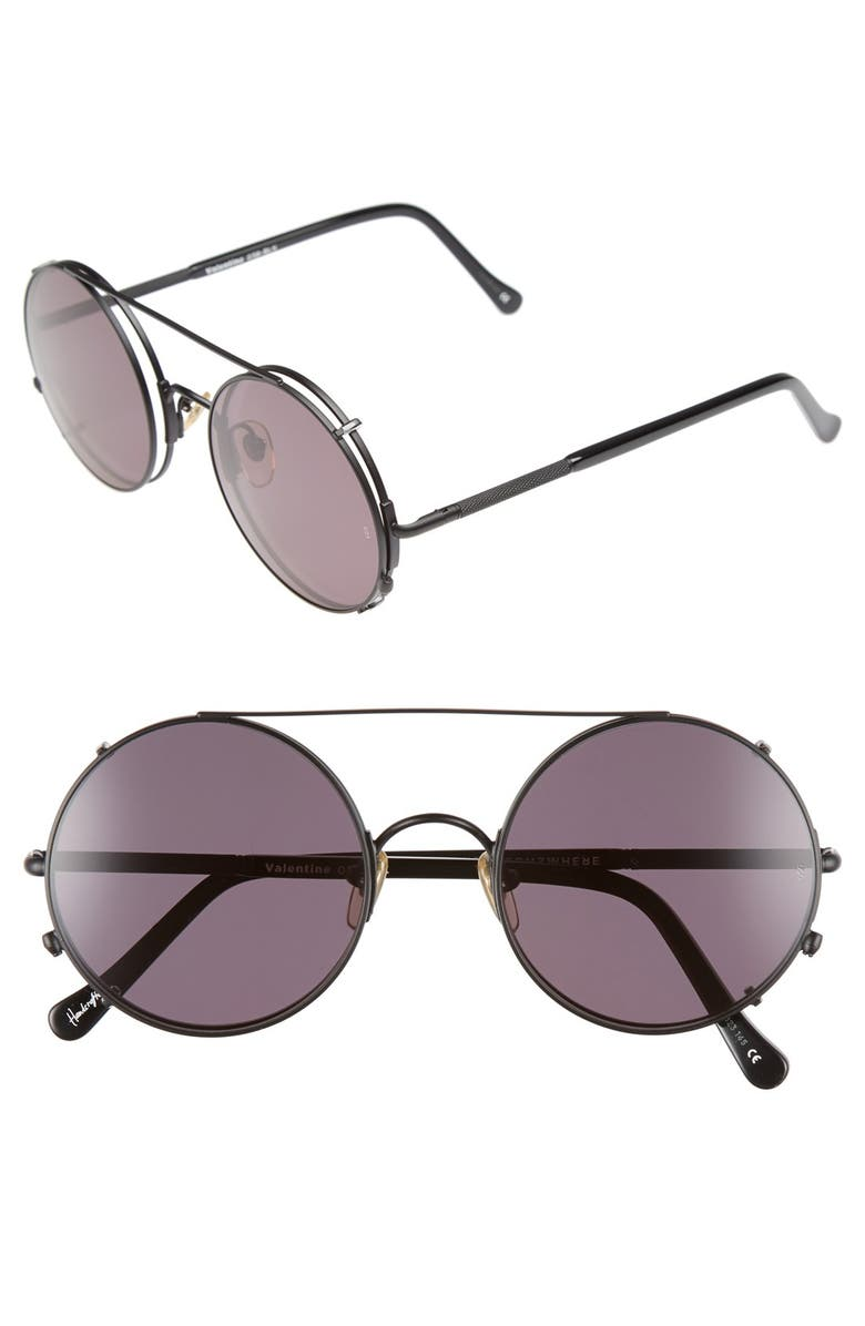 SUNDAY SOMEWHERE 'Valentine' 52mm Clip-On Sunglasses, Main, color, 001
