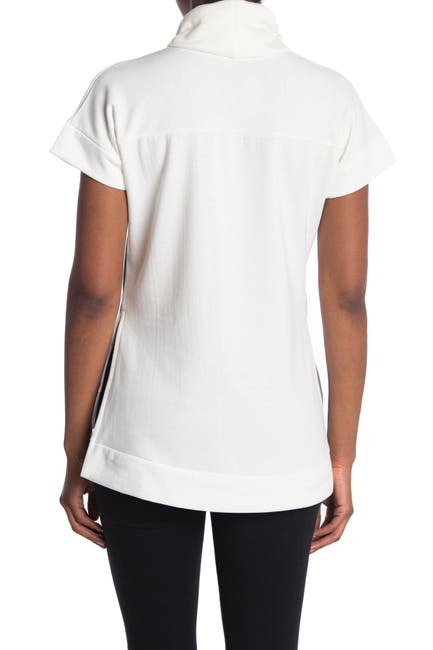 Image of Go Couture Short Sleeve Turtleneck Sweater