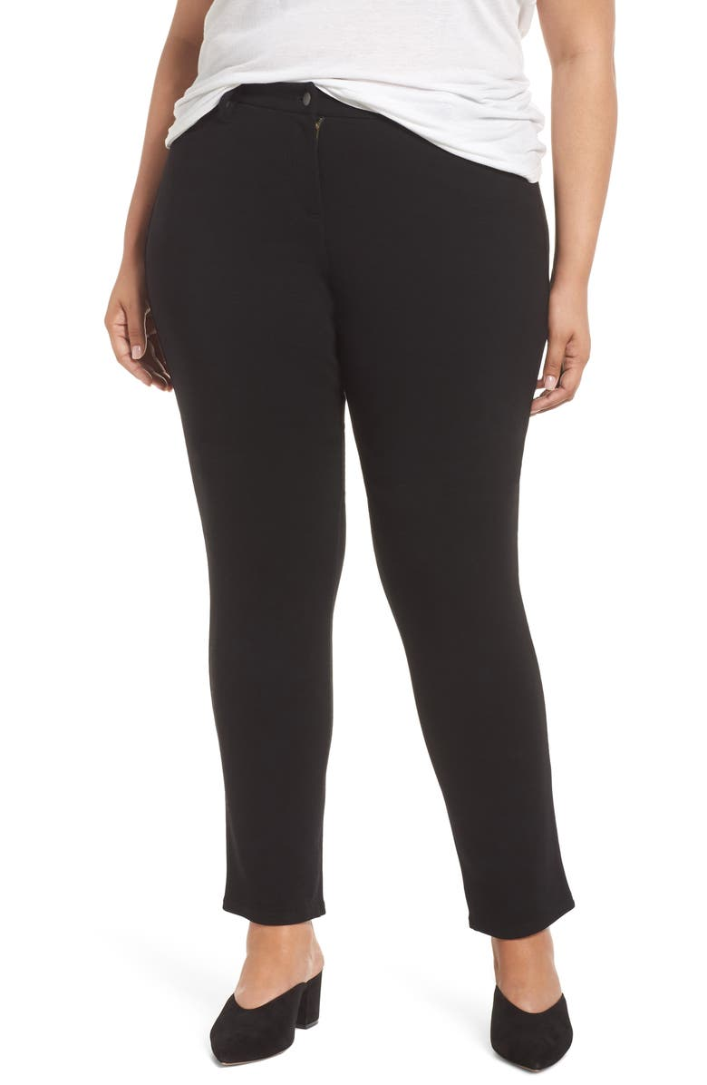 EILEEN FISHER High Rise Skinny Jeans, Main, color, BLACK