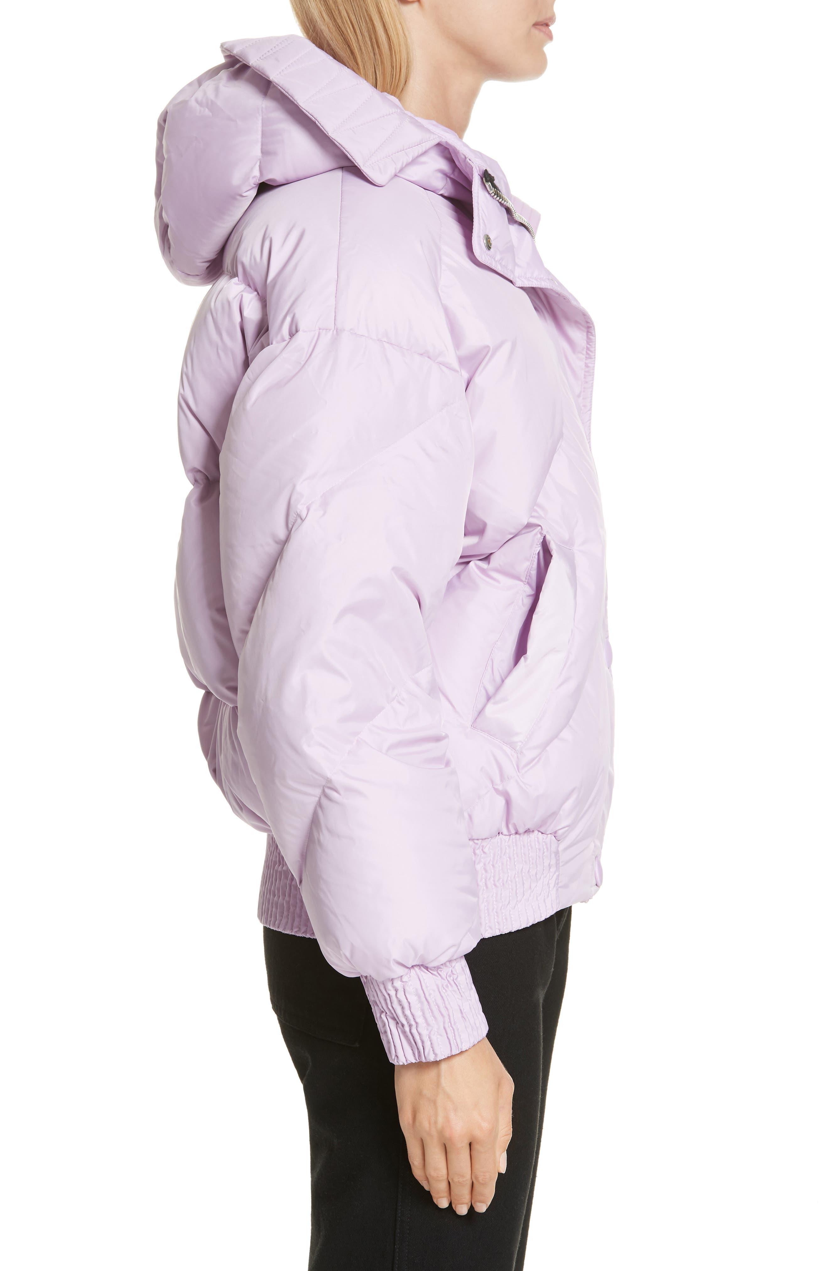 ,                             Dunlope Hooded Down Puffer Coat,                             Alternate thumbnail 3, color,                             MAURI CRISTAL