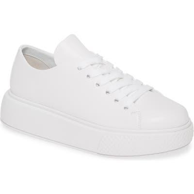 Jeffrey Campbell Entourage Low Top Platform Sneaker- White