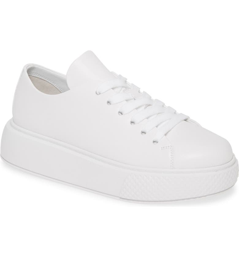 JEFFREY CAMPBELL Entourage Low Top Platform Sneaker, Main, color, WHITE/ WHITE