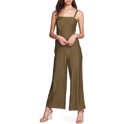 1.state Tie Back Wide Leg Jumpsuit, Green