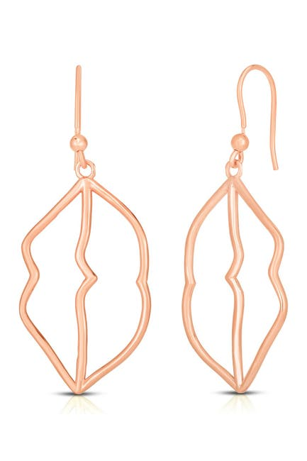 Sphera Milano 14k Rose Gold Plated Sterling Silver Lips Drop Earrings Nordstrom Rack