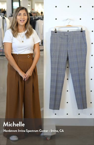 Bons Slim Fit Glen Plaid Cropped Pants, sales video thumbnail