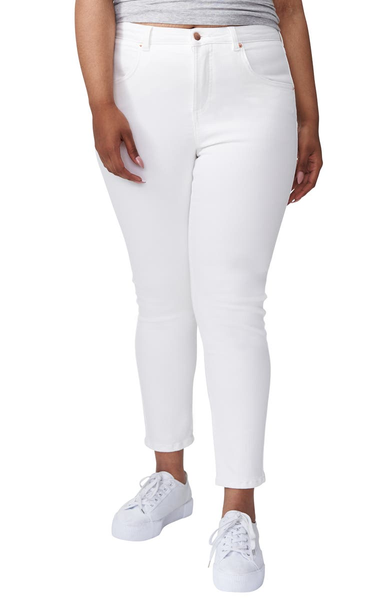 UNIVERSAL STANDARD Seine High Waist Skinny Jeans, Main, color, WHITE