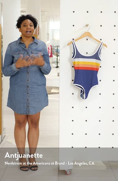 Beach Street Stripe One-Piece Swimsuit, sales video thumbnail