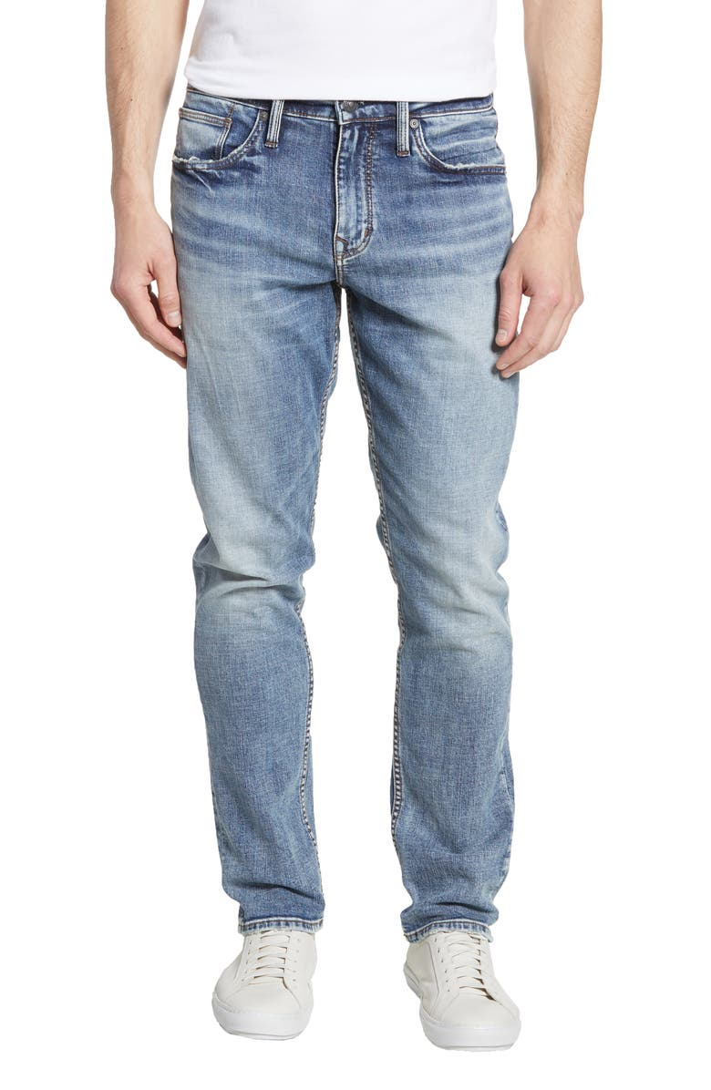 SILVER JEANS CO. Machray Straight Leg Jeans, Main, color, INDIGO
