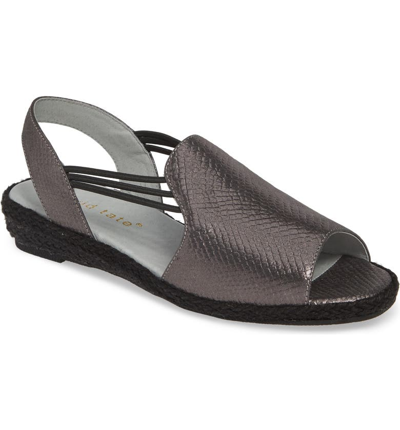 DAVID TATE June Wedge Sandal, Main, color, BLACK LEATHER