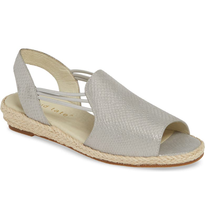 DAVID TATE June Wedge Sandal, Main, color, PLATINUM LEATHER