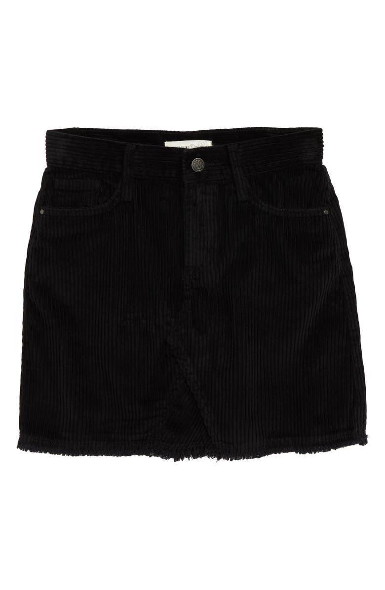 TREASURE & BOND Corduroy Skirt, Main, color, BLACK