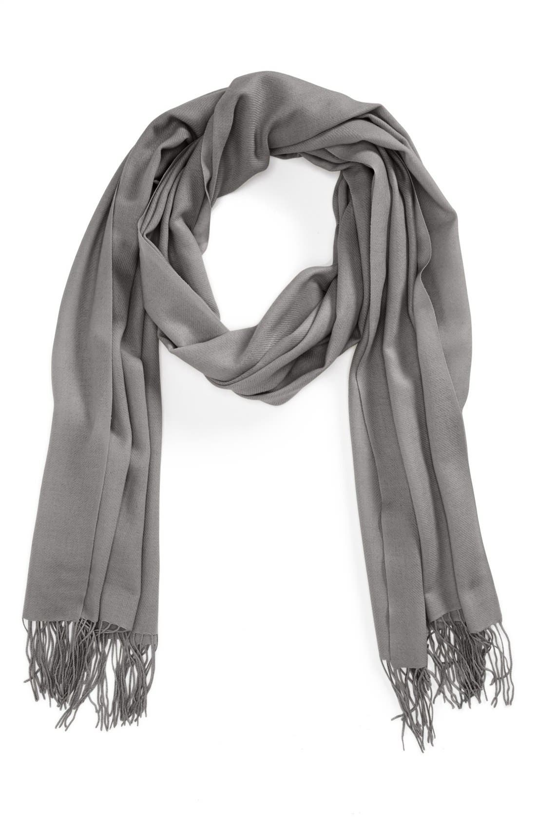 ,                             Tissue Weight Wool & Cashmere Wrap,                             Main thumbnail 19, color,                             069