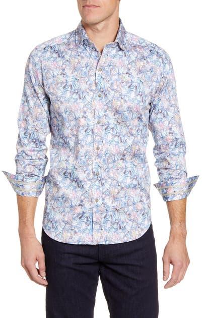 Robert Graham T-shirts KAIDEN CLASSIC FIT BUTTON-UP SPORT SHIRT