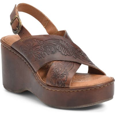 B?rn Milo Wedge Sandal, Brown