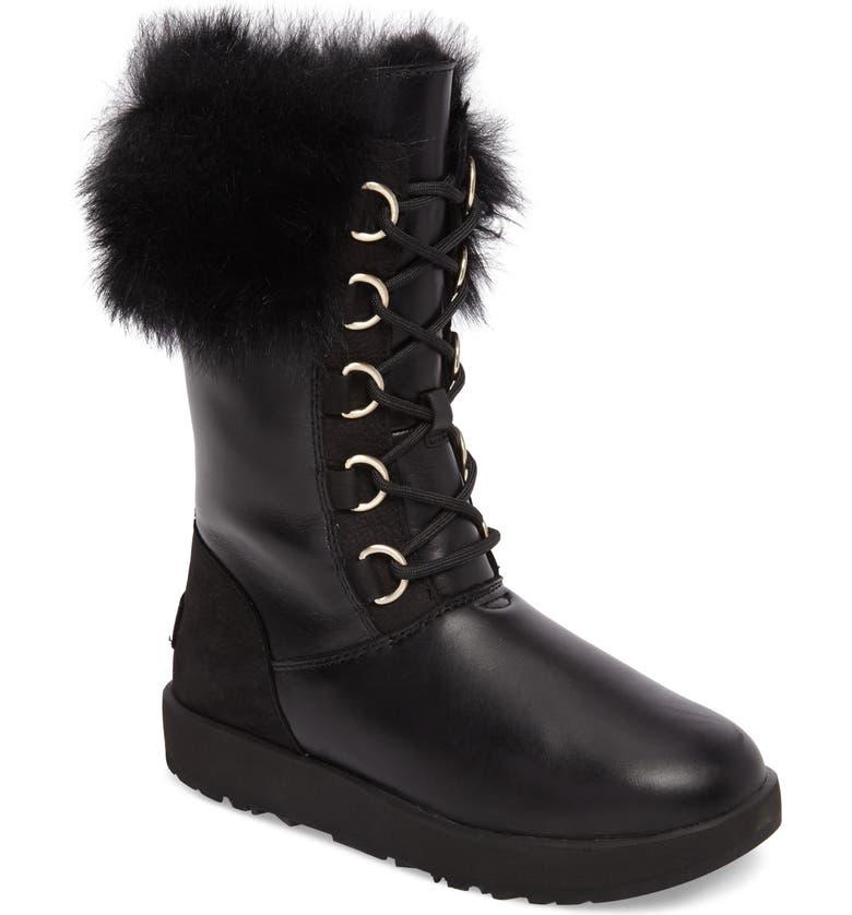 UGG<SUP>®</SUP> Aya Waterproof Snow Boot, Main, color, 001