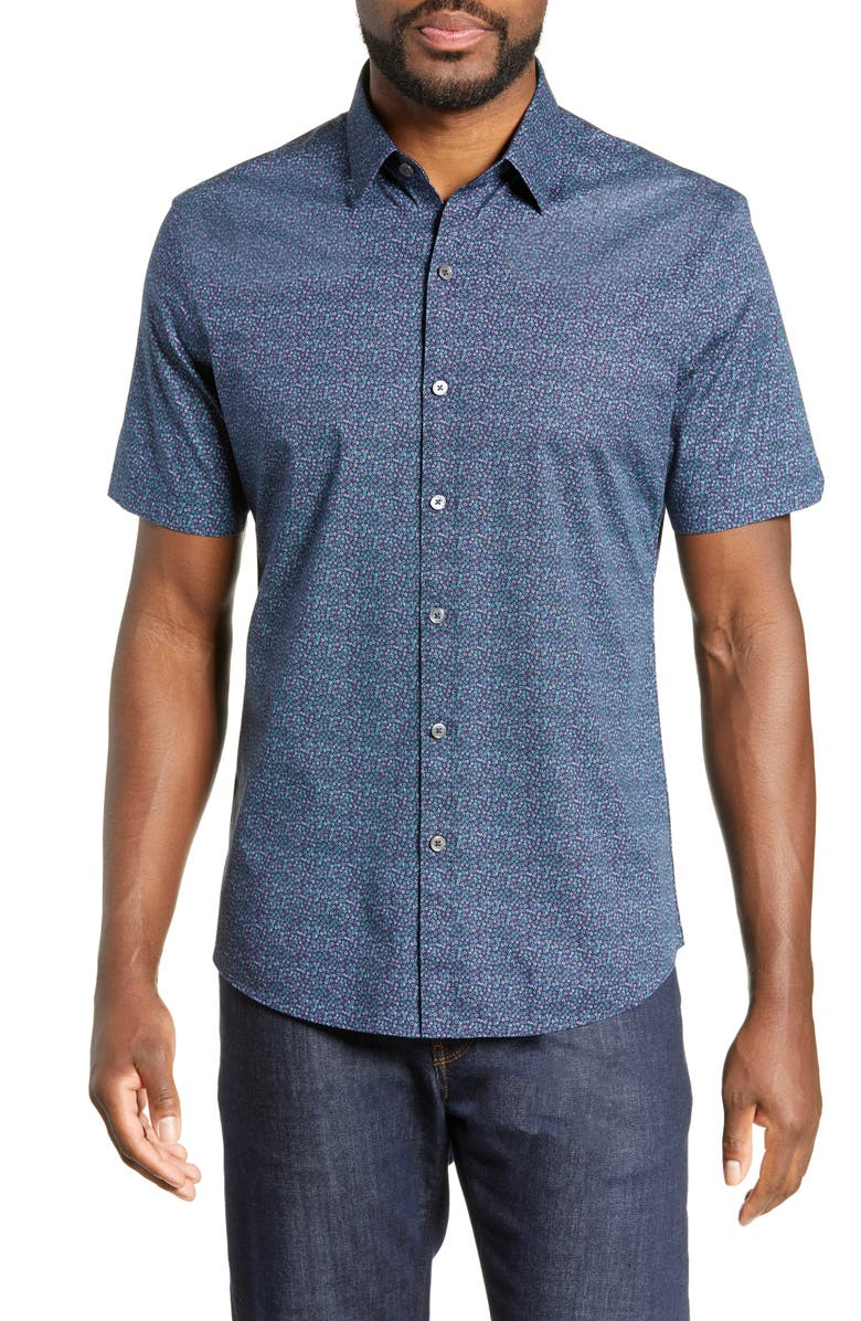 ZACHARY PRELL Siddiqui Regular Fit Print Shirt, Main, color, 467