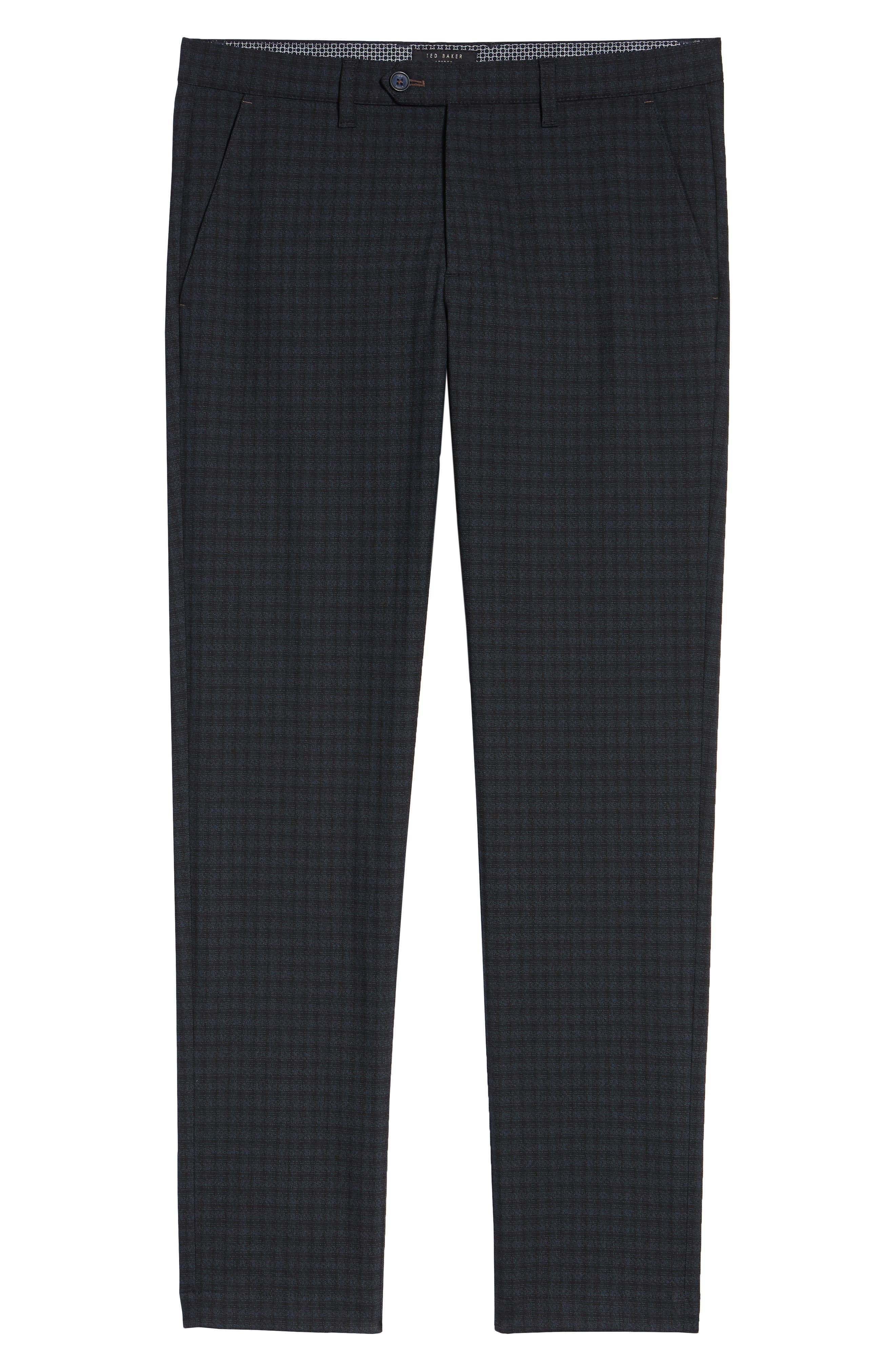 ,                             Portula Slim Fit Check Trousers,                             Alternate thumbnail 13, color,                             410