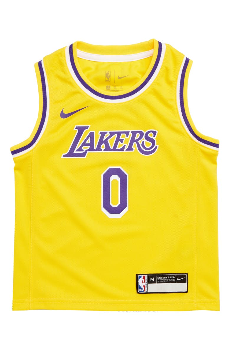 premium selection e3e89 97385 NBA Logo Los Angeles Lakers Kyle Kuzma Basketball Jersey