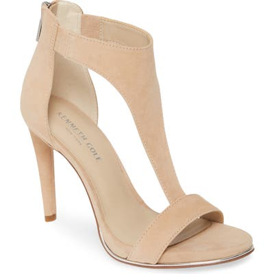 Kenneth Cole New York Brooke T-Strap Sandal, Beige