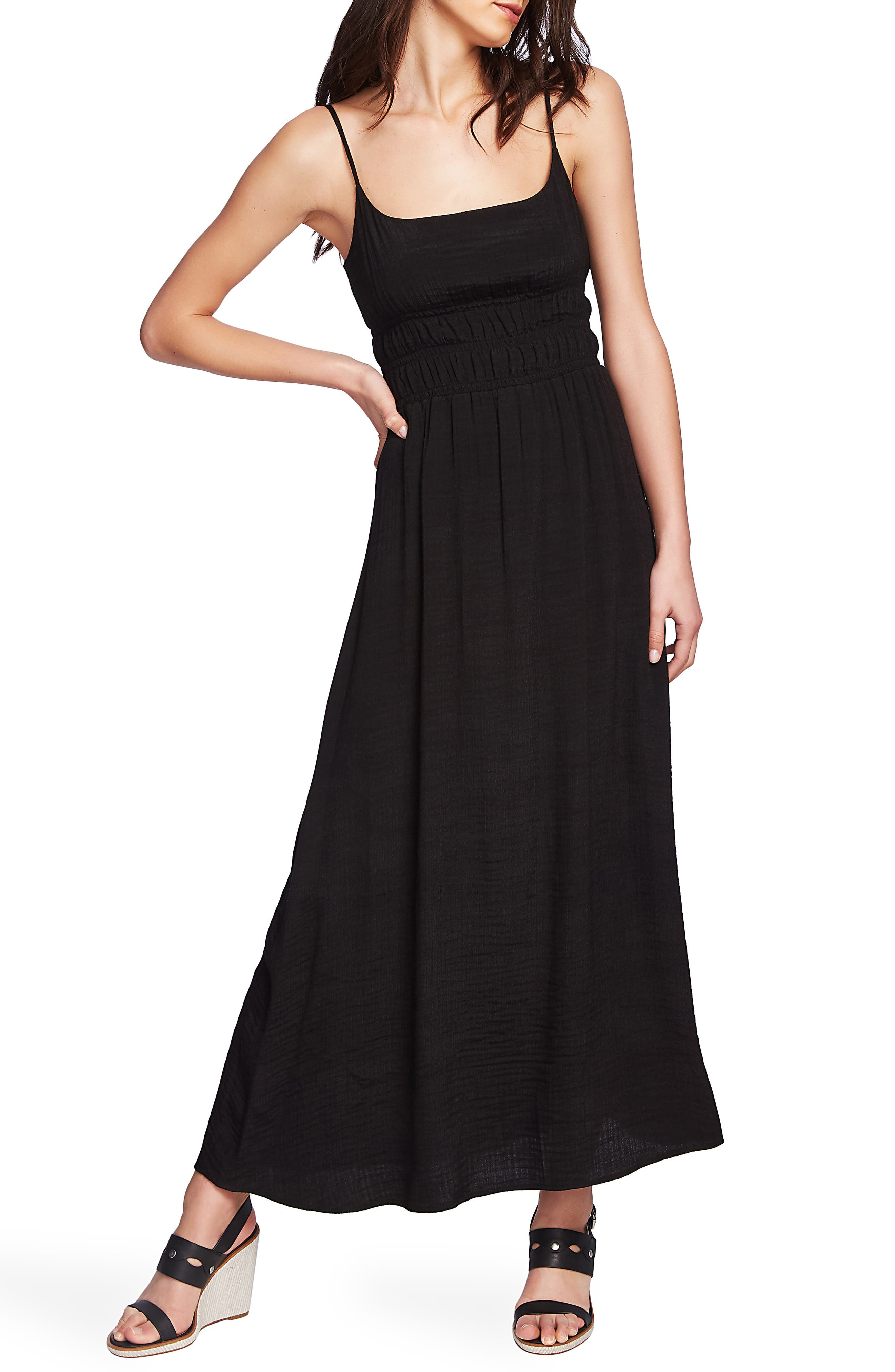 1.state Cinched Maxi Dress, Black