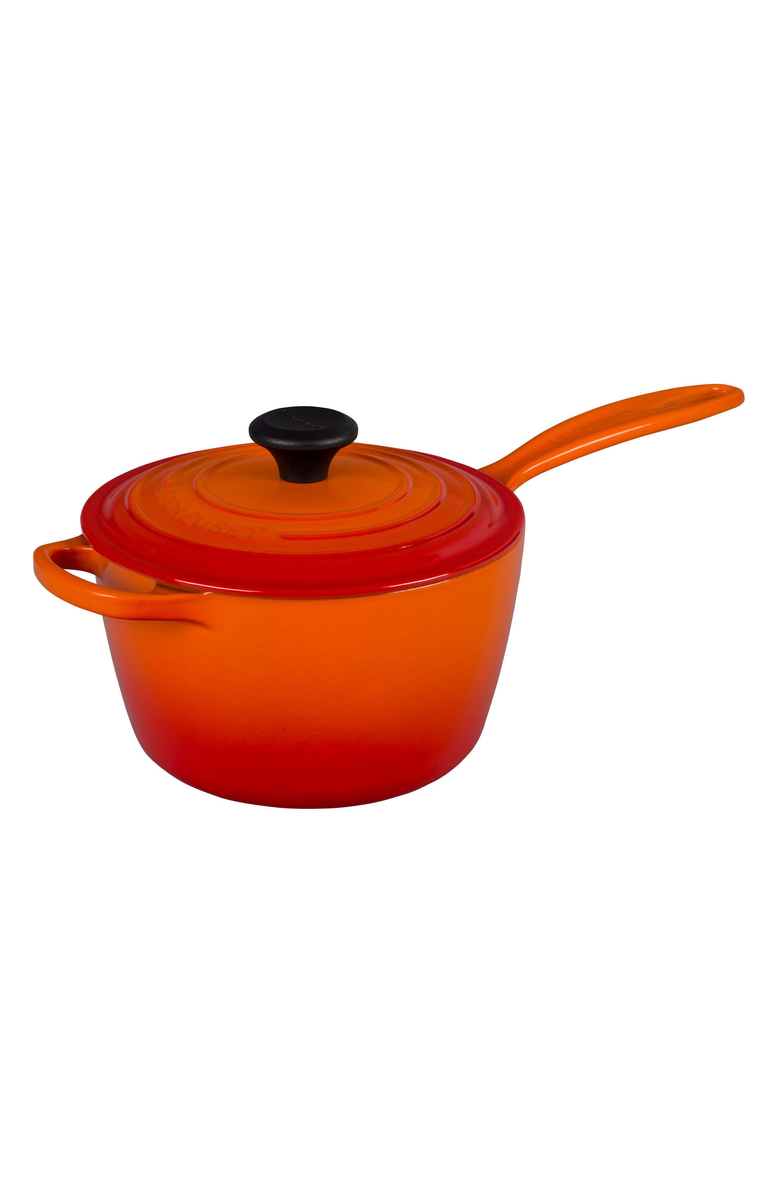 Le Creuset Signature 2 14Quart Cast Iron Saucepan Size One Size  Orange
