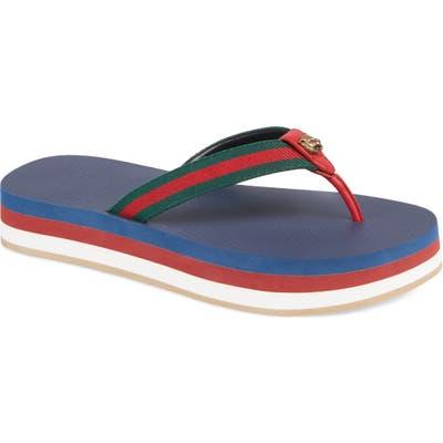 Gucci New Bedlam Flip Flop, Blue