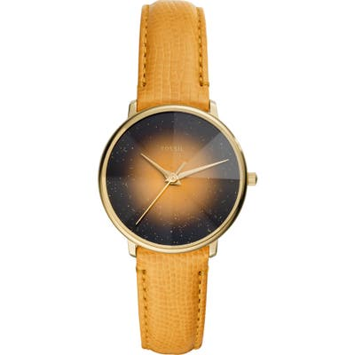 Fossil Prismatic Galaxy Leather Strap Watch, 3m