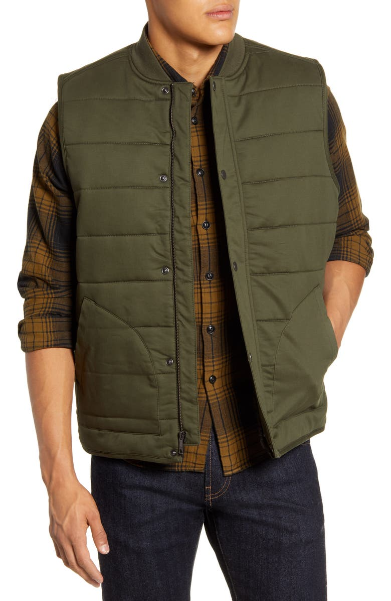 1901 Faux Shearling Lined Puffer Vest, Main, color, 301
