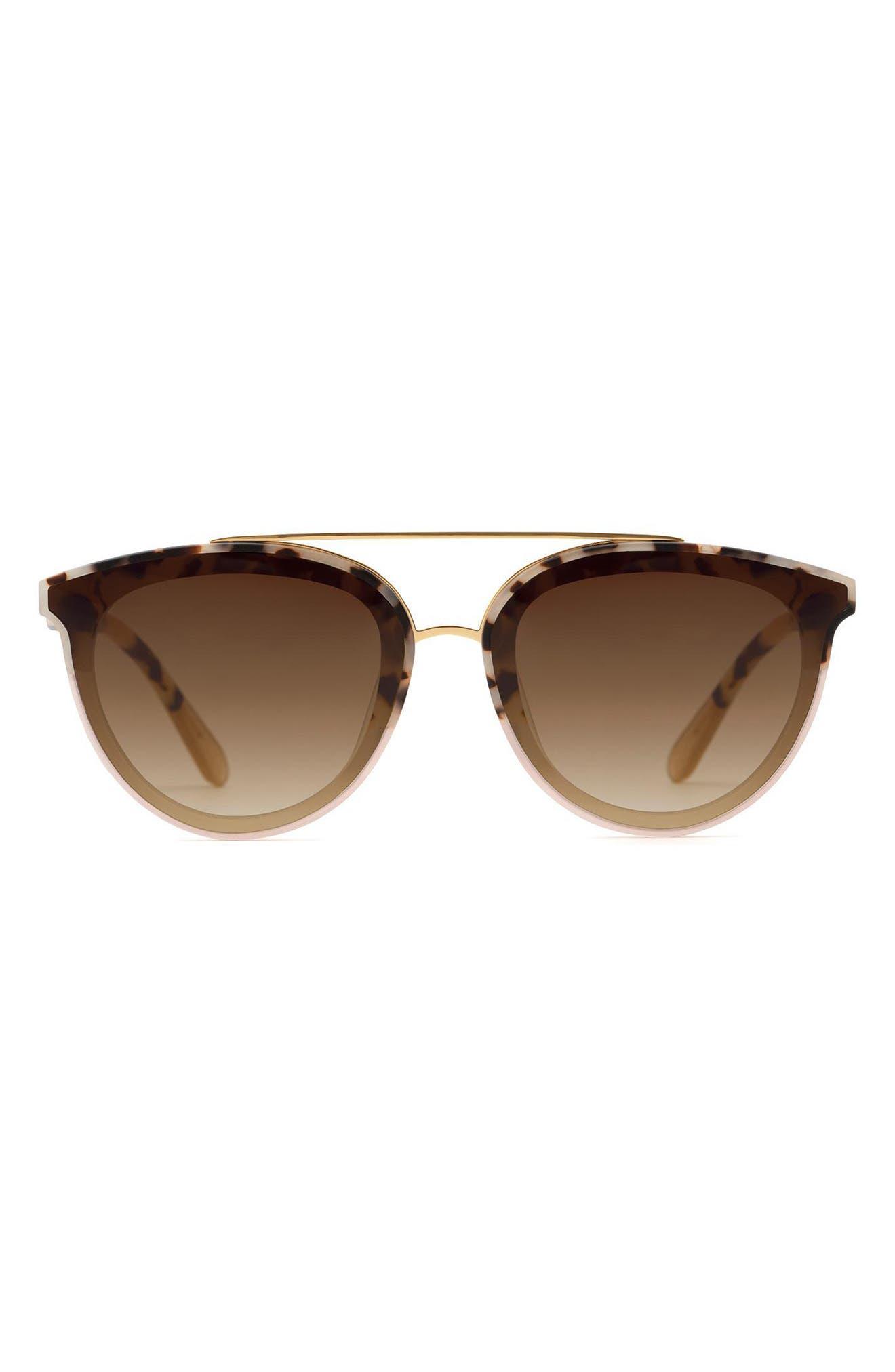 Clio 63mm Gradient Oversize Cat Eye Sunglasses