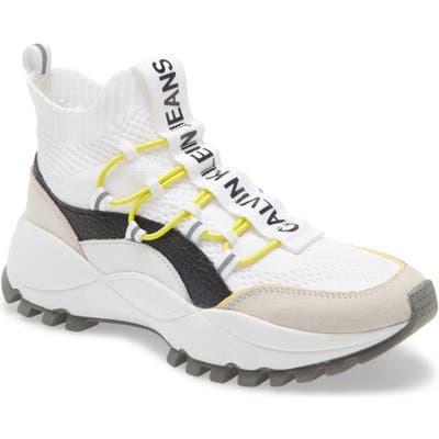 Calvin Klein Jeans Timotea High Top Sneaker, White