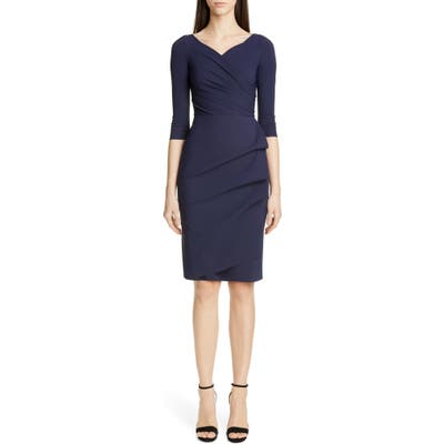 Chiara Boni La Petite Robe Florien Ruched Cocktail Dress, US / 42 IT - Blue