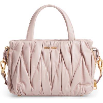 Miu Miu Small Matelasse Nappa Leather Satchel - Pink