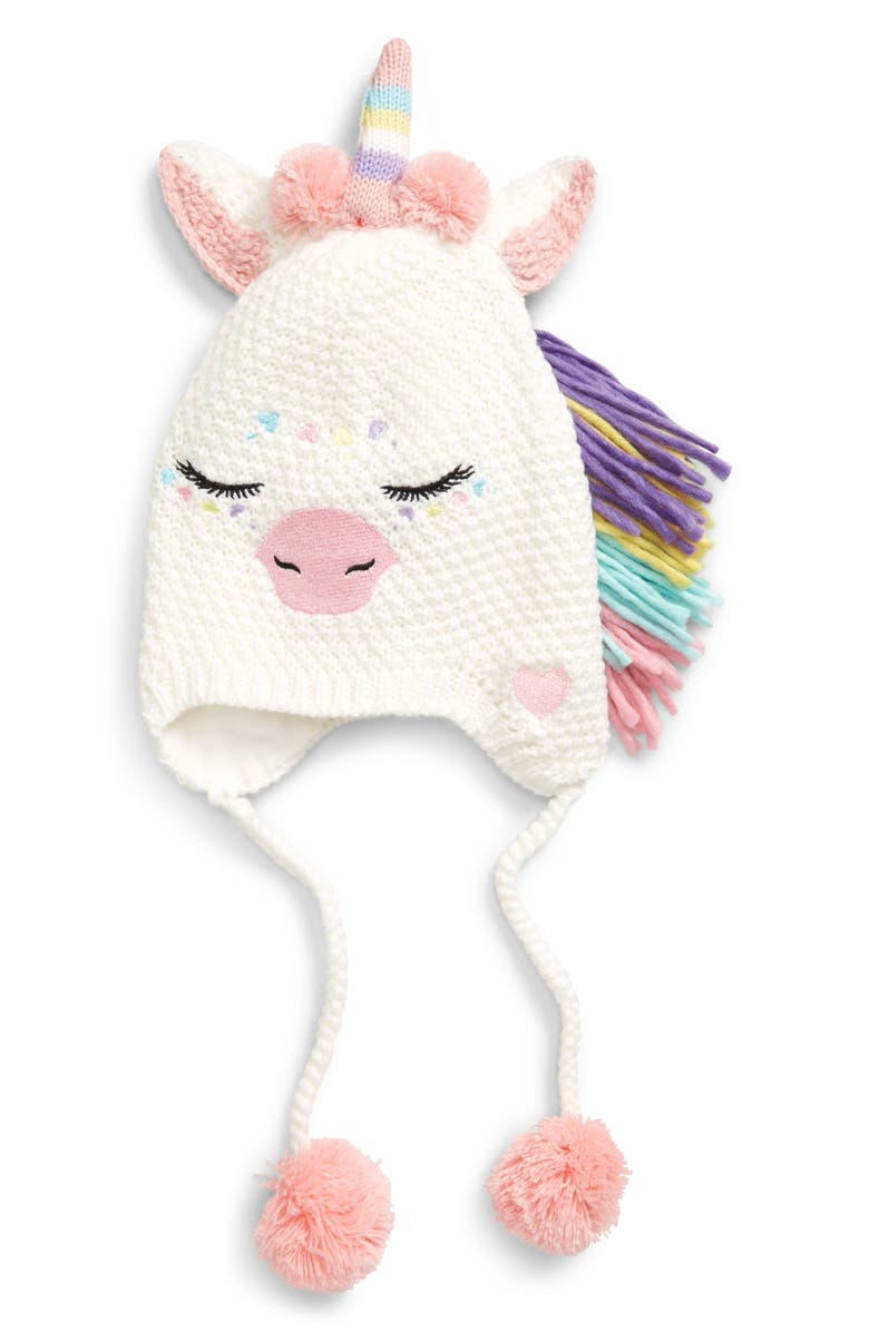 UNDER ONE SKY Unicorn Heidi Knit Hat, Main, color, 111