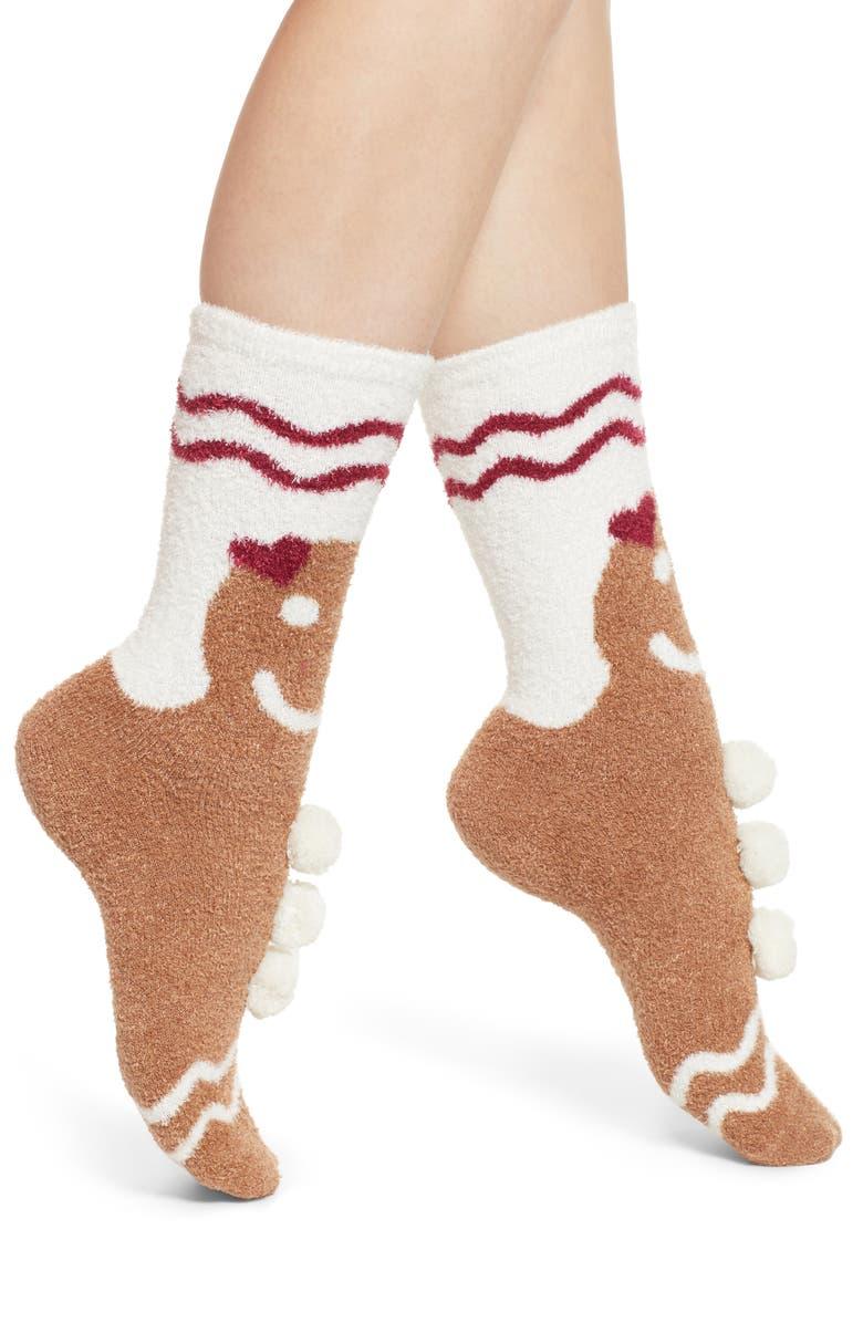 MAKE + MODEL Butter Socks, Main, color, CAMEL GINGERBREAD MAN